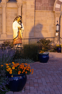 Blessed Kateri Tekakwitha outside the Cathedral of St. Francis of Assisi