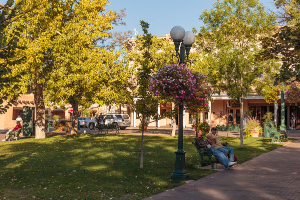 Santa Fe Plaza, the central plaza in downtown