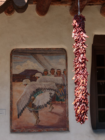 Dried Chile Peppers at the Palace of Governors courtyard