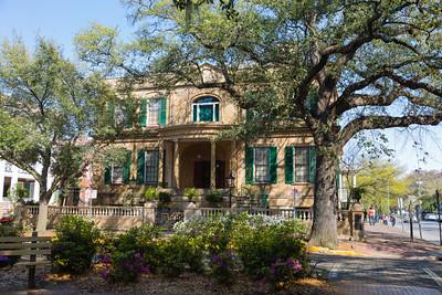 Historic Home on Oglethorpe Square, Savannah, Georgia