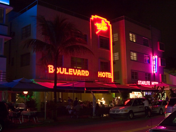South Beach Evening Street Scene