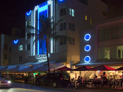South Beach Evening Street Scene