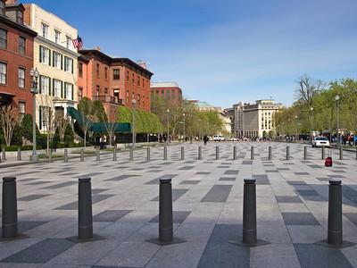 Pennsylvania Avenue in  Front of the White House, Washington DC