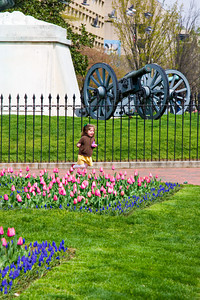 Young Girl in Lafayette Park, across from the White House in Was