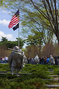 Statues of Soldiers at the Korean War Memorial, Washington DC