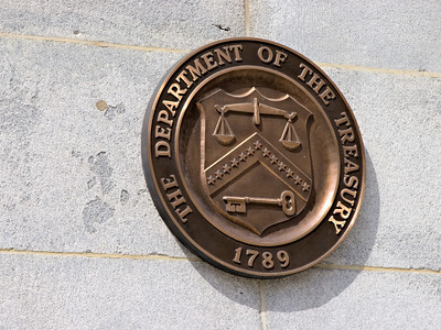 Bronze Logo for the US Treasury Department