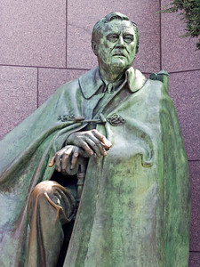 Statue of Franklin D. Roosevelt at the FDR Monument