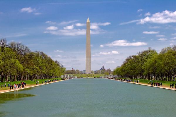 Washington Monument from the Reflecting Pool, Washington DC