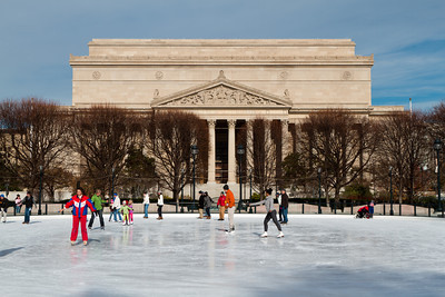 Ice Skating on the National Mall, National Art Gallery Courtyard