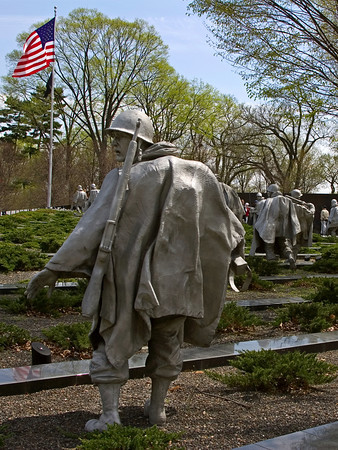 Statues of Soldiers at the Korean War Memorial, Washington DC