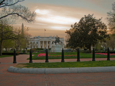 White House from Lafayette Park, Washington DC