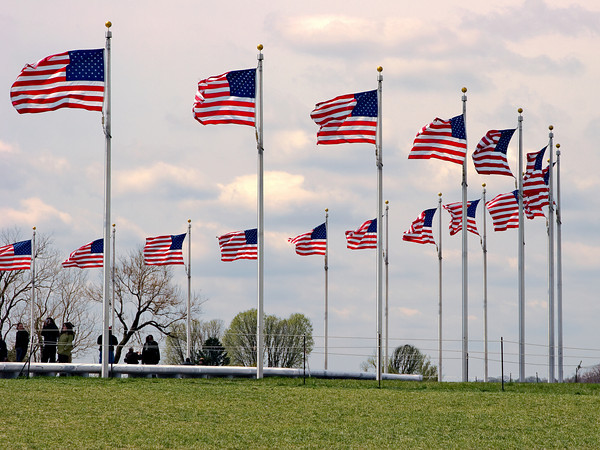 Display of Flags at the Washington Monument