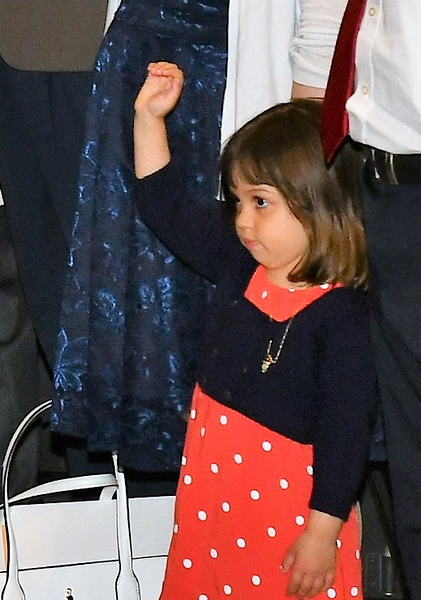 . A little girl during the Oath of Allegiance. Sentinel & Enterprise / Jim Fay