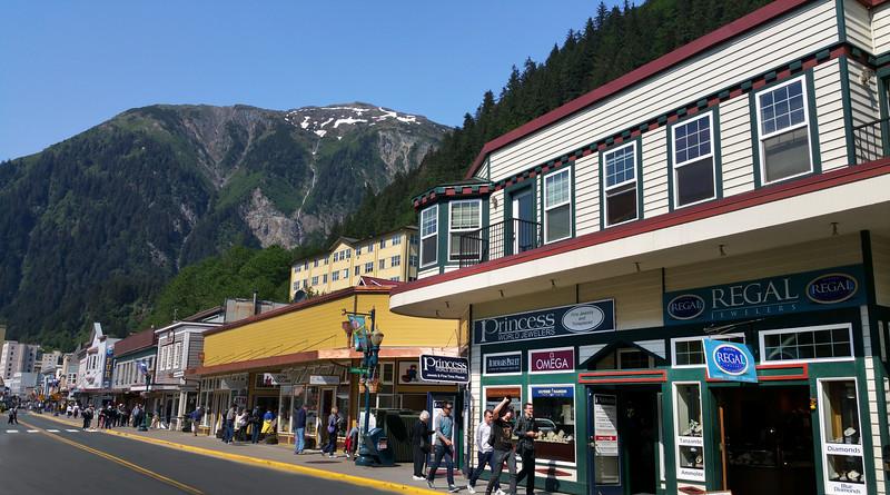 Juneau Alaska, Downtown Street View