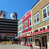 Juneau Alaska, People's Wharf Shops with Cruise  Ship