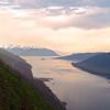 Juneau Alaska, Gastineau Channel at Dusk