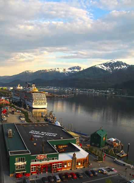 Juneau Alaska, View on Harbor from Mount Roberts Tram