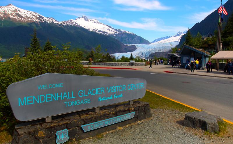 Juneau Alaska, Mendenhall Glacier Entrance