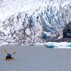 Juneau Alaska, Mendenhall Glacier, Kayakers