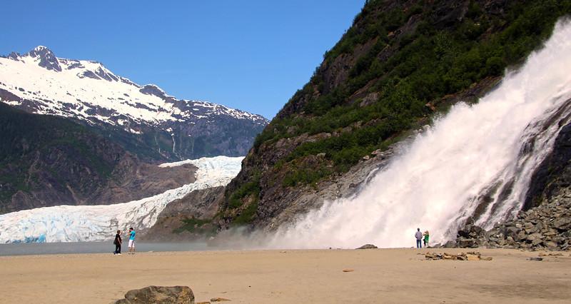 Juneau Alaska, Mendenhall Glacier and Nugget Falls