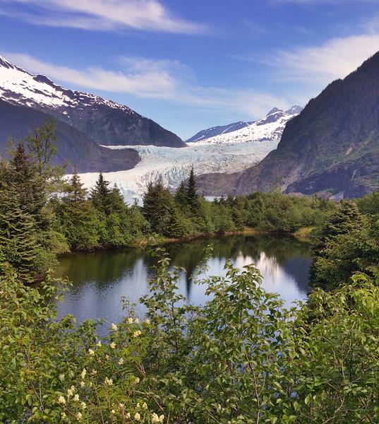 Juneau Alaska, Mendenhall Glacier from Nugget Falls Trail