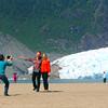 Juneau Alaska, Mendenhall Glacier Photo Op