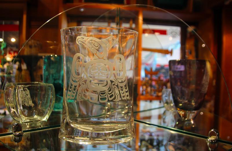 Juneau Alaska, Raven Eagle Gift Shop, Mount Roberts Tram, Alaskan Hand Blown Glass Artifacts