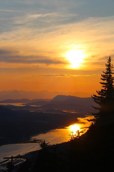 Juneau Alaska, View from Mount Roberts Trail on Chitkat Mountain Range