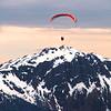 Juneau Alaska, Paraglider From Mount Roberts Trail