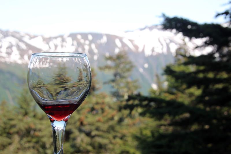 Juneau Alaska, Bear Creek Winery Wines Seved at Timberline Bar & Grill, Mount Roberts Tramway