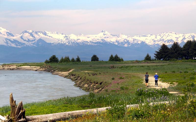 Juneau Alaska, Eagle River View of Chilkat Mountain Range