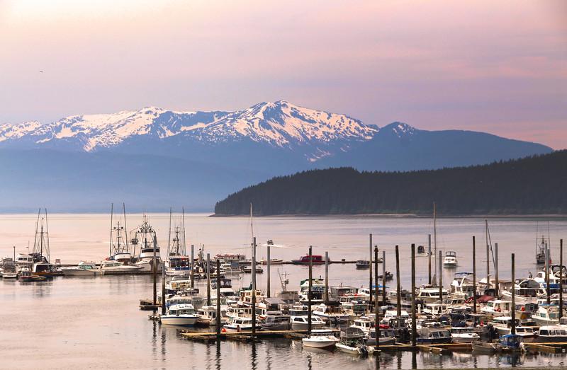 "Juneau Alaska, Marina on Glacier Highway ""Out the Road"" Tour"