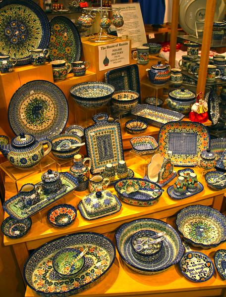 Juneau Alaska, The House of Russia, Polish Pottery