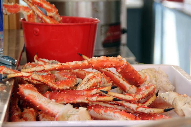 Juneau Alaska, Tracy's Crab Shack, Crab Claws