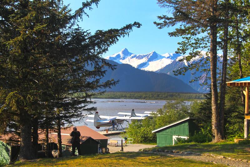 Juneau Alaska, View on Mountains from Taku Glacier Lodge