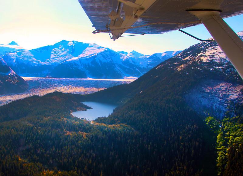 Juneau Alaska, View on Lake and Glacier from Wings Alaska Flightseeing