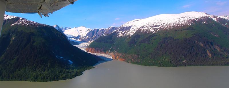 Juneau Alaska, Aerial View of Glacier from Wings Airways Floatplane