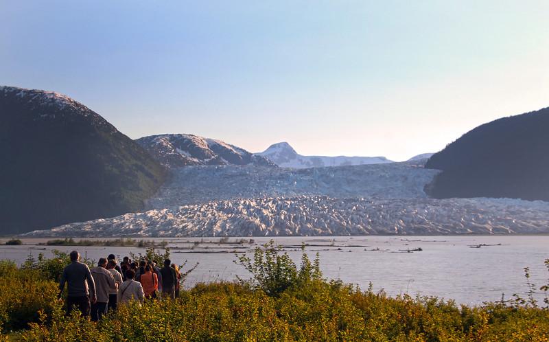 Juneau Alaska, Interpretive Nature Hike, Hole-in-the-Wall Glacier, from Taku Glacier Lodge