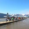 Juneau Alaska, Taku Glacier Lodge Guests Boarding  Floatplanes