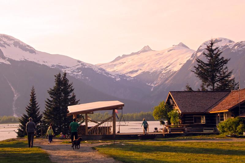 Juneau Alaska, Taku Glacier Lodge at Dusk