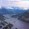 Juneau Alaska, View on Mountains and Inlet Islands from Wings Airways Flight Seeing Tour