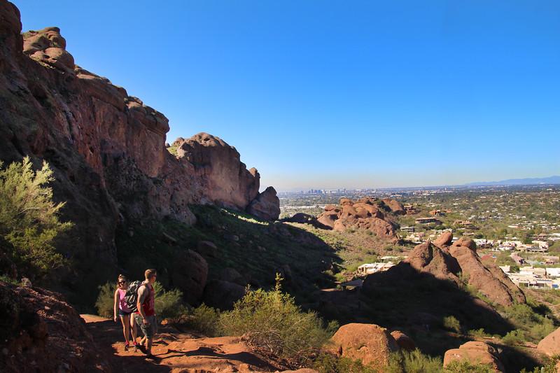 Arizona, Scottsdale, Camelback Mountain Echo Trail Hikers