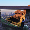 Arizona, Scottsdale,View on Phoenix from Camelback Echo Trail