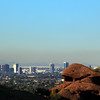 Arizona, Scottsdale, View on Phoenix from Camelback Mountain