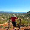 Arizona, Scottsdale, Hiker on Echo Trail