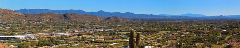 Arizona, Scottsdale, Panorama from Camelback Mountain