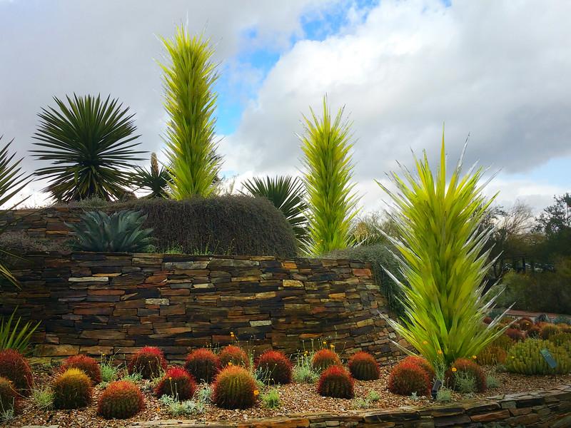 Arizona, Scottsdale, Desert Botanical Garden Entrance