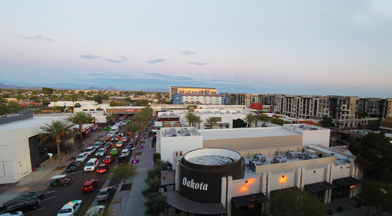 Arizona, Scottsdale,  City Panorama from W Hotel
