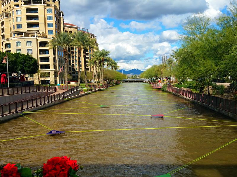 Arizona, Scottsdale, Waterfront Canal