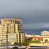 Arizona, Scottsdale, Panorama over Fashion Square and Camelback Mountain